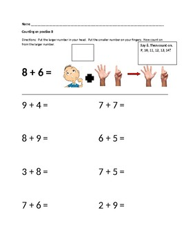 Counting On for Simple Math Addition