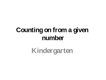 Counting On from a given number
