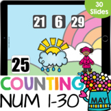 Counting On to 30 Kindergarten Math Google Slides Blended