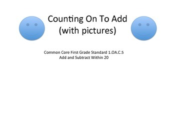Counting On to Add Worksheets