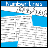 Counting On to Add and Counting Back to Subtract Using a Number Line Worksheets