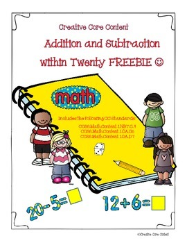 Addition and Subtraction within Twenty Freebie