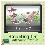Counting-On with Fish! | Math Center | Flip Book | Answer Sheet