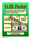 Counting One Dollar Bills Math Packet (SAMPLE)