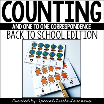 Counting & One-to-One Correspondence Activities {Back to School Edition}