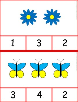 Counting One to One Correspondence Clip Cards