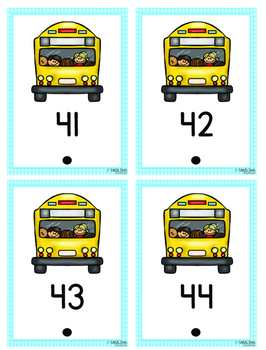 Counting One to One (School Bus Count and Hook)