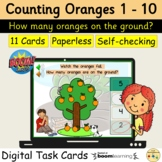 Counting Oranges Fruit 1 to 10 BOOM Cards™ Distance Home Learning