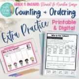Counting & Ordering Extra Practice Grade 3 Ontario Math No