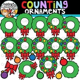 Counting Ornaments on a Wreath Clipart {Christmas Clipart}