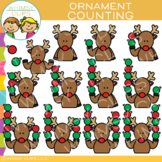 Counting Ornaments with Reindeer Clip Art