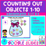 Counting Out Objects to 10 - Google Slides Kindergarten Ma