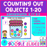 Counting Out Objects to 20 - Google Slides Kindergarten Ma