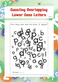 Counting Overlapping Lower Case Letters (Visual Perception Worksheets)