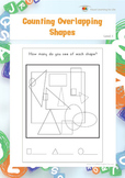 Counting Overlapping Shapes (Visual Perception Worksheets)