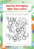Counting Overlapping Upper Case Letters (Visual Perception Worksheets)