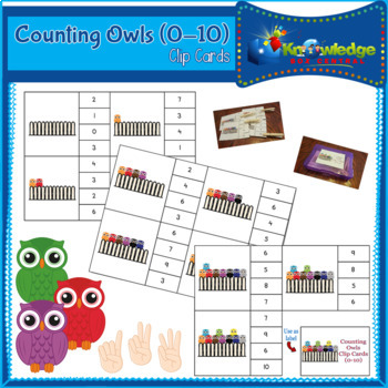 Counting Owls Clip Cards (0-10)