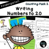 Writing Numbers to 20-Pack 2 (Kindergarten-K.CC.3)