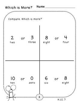 Counting Pack 5 (Kindergarten)