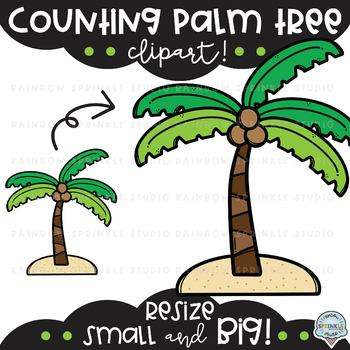 Counting Palm Tree Clipart {palm tree clipart}