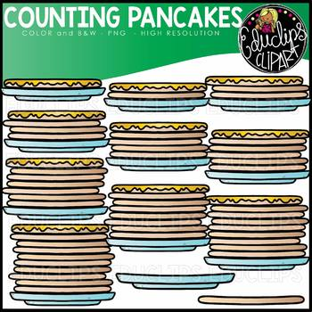 Counting Pancakes Clipart Set {Educlips Clipart}