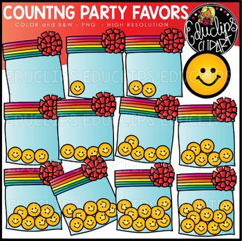 Counting Party Favors Clipart Set {Educlips Clipart}