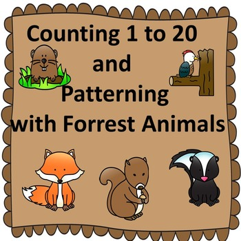 Counting & Patterning with Forrest Animals for Pre-K, Spec