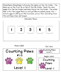 Counting Paws -  File Folder