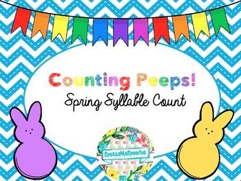 No Prep..Spring Syllable Deletion Activity