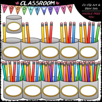 (0-10) Counting Pencils Clip Art - Sequence, Counting & Ma
