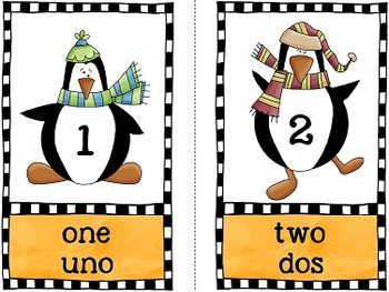 Counting Pengins 1 - 20