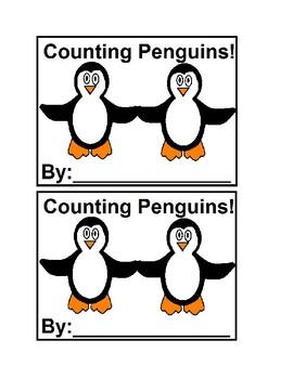 Counting Penguins in color Emergent Reader Book for Preschool & Kindergarten