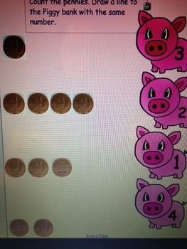 Counting Pennies Smart Board Game