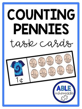 Counting Pennies Task Cards