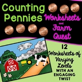 Counting Pennies Worksheets and Quest