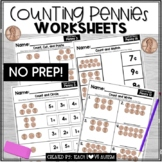 Counting Pennies Worksheets