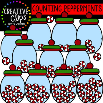 Counting Peppermints: Christmas Clipart {Creative Clips Clipart}