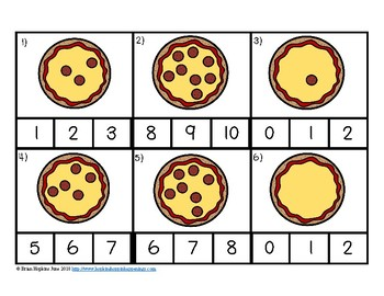 Clip It Counting Pepperoni Pizzas