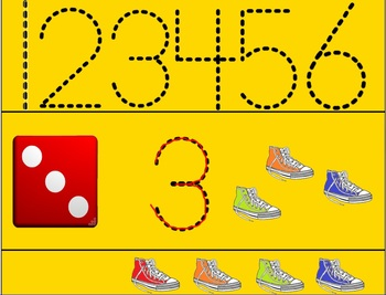 Counting Pete's Shoes-Recognizing Numbers 1-6