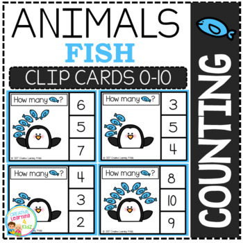 Counting Picture Clip Cards 0-10: Animals