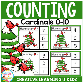 Counting Picture Clip Cards 0-10: Cardinal
