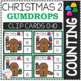 Counting Picture Clip Cards 0-10: Christmas 2