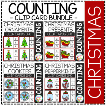 Counting Picture Clip Cards 0-10: Christmas
