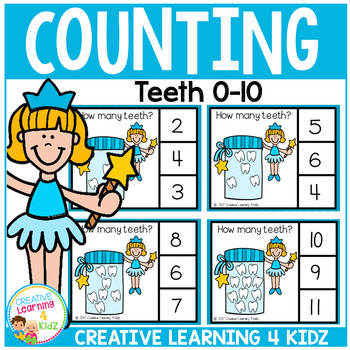 Counting Picture Clip Cards 0-10: Dental Health Tooth Fairy