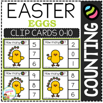 Counting Picture Clip Cards 0-10: Easter 3