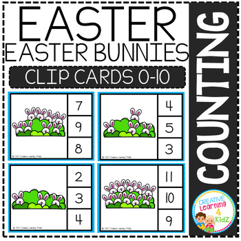 Counting Picture Clip Cards 0-10: Easter Bundle