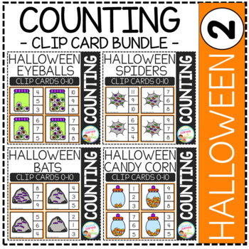 Counting Picture Clip Cards 0-10: Halloween 2 Bundle