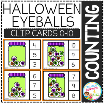 Counting Picture Clip Cards 0-10: Halloween 2