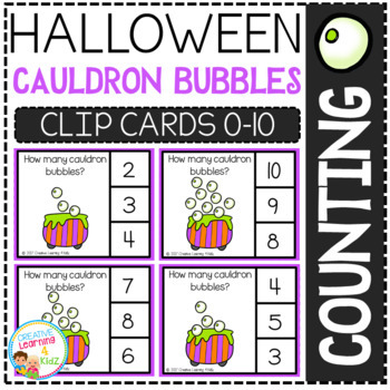 Counting Picture Clip Cards 0-10: Halloween Bundle