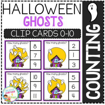 Counting Picture Clip Cards 0-10: Halloween